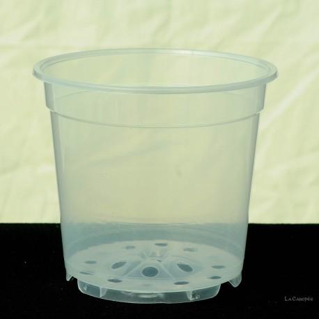 Pot transparent, diamètre 12